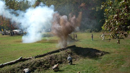 Special effects display for reenactment in Pennsylvania
