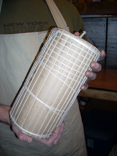 Strung 6 inch firework display shell manufactured in pa