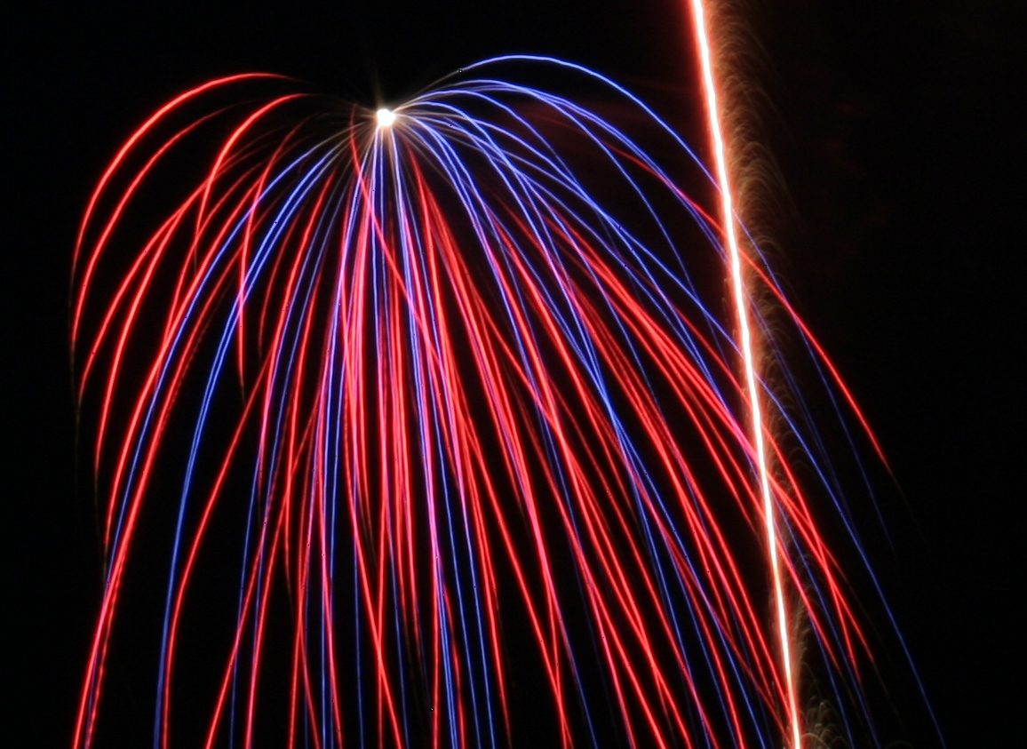 Red & Blue Firework Manufactured by Old Glory Powder Company